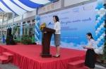 Bài phát biểu trong lễ khởi động dự án MIZUIKU - Em yêu nước sạc